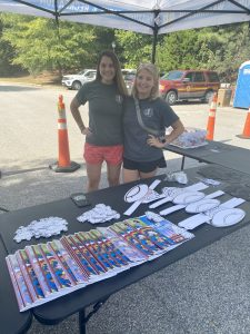 Justine Haynes and Mary Wallace are with Waxhaw Parks and Rec department and they came to highlight fall activities.