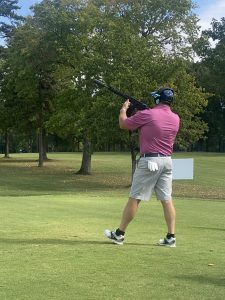 Charity golf launcher participate