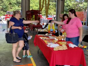 Children's safety books and toys were handed out at the Waxhaw Fire Department Open House 2021.
